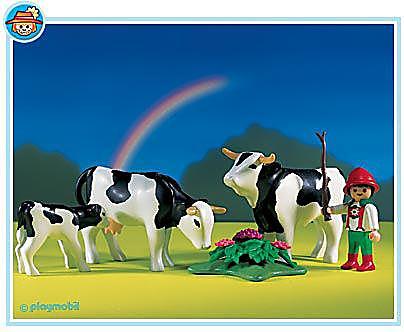 3077-A Vacher/famille de vaches detail image 1