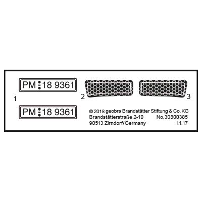 """30800385_sparepart/Etikett 9361 """"SEK-Zivilfahrzeug"""""""
