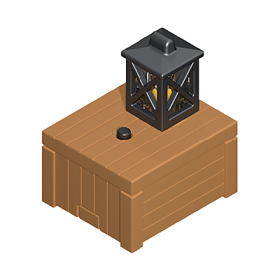 30822312_sparepart/Caisse de bois avec lanterne