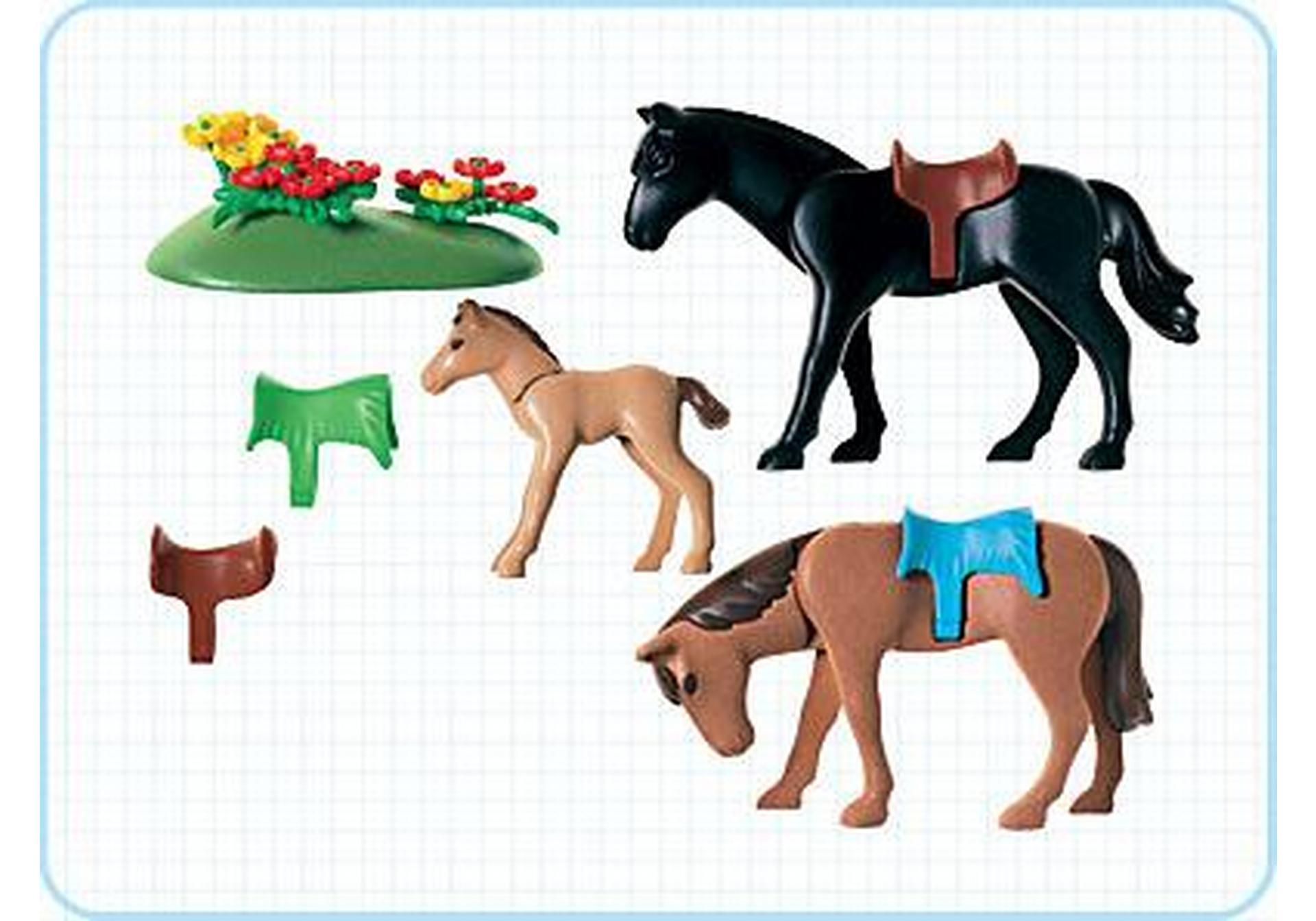 2 pferde mit fohlen 3114 b playmobil - Pferde playmobil ...