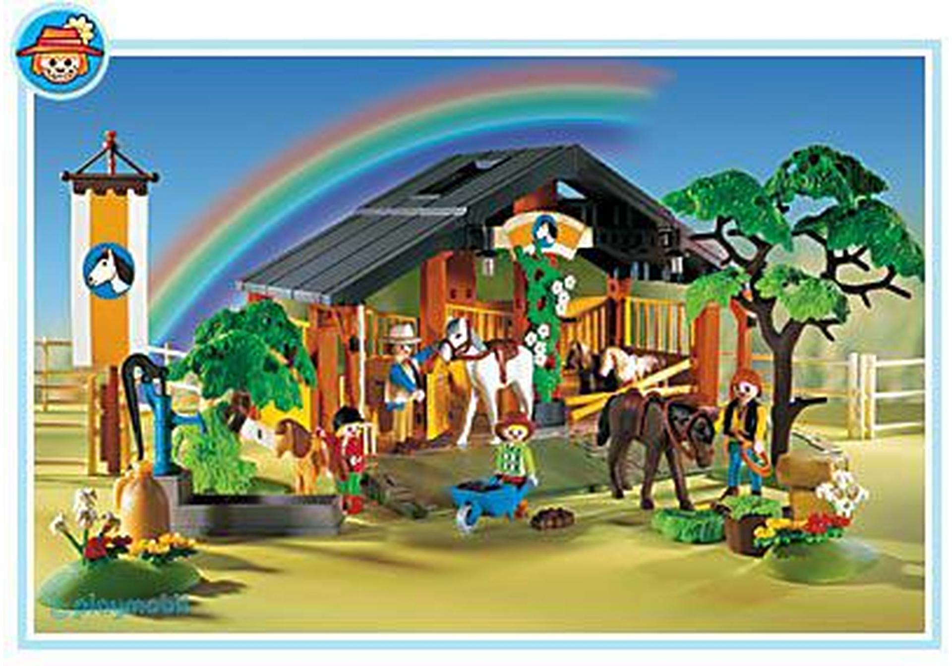 inspiration coloriage chevaux centre equestre playmobil. Black Bedroom Furniture Sets. Home Design Ideas