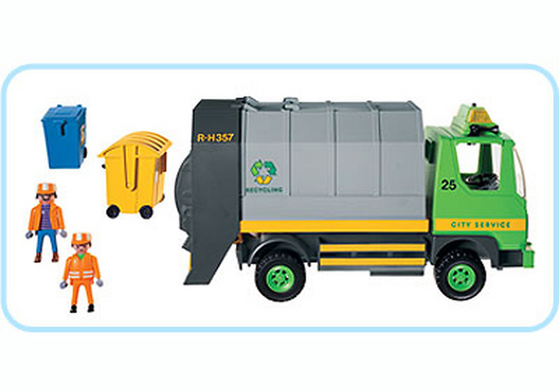 3121-B Eboueurs/Camion ordures ménagères zoom image2