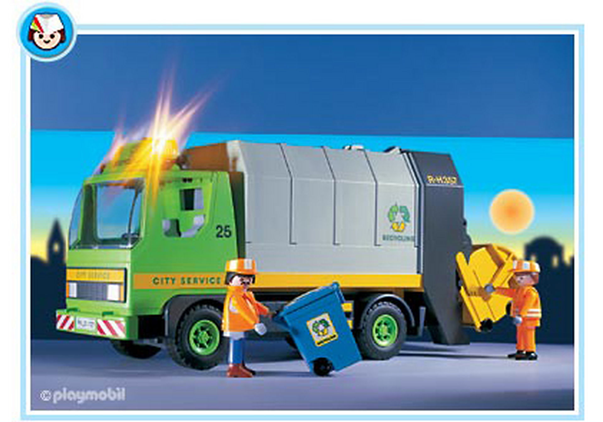 3121-B Eboueurs/Camion ordures ménagères zoom image1
