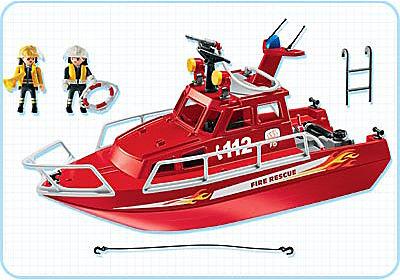 3128-B Feuerlöschboot mit Pumpe detail image 2
