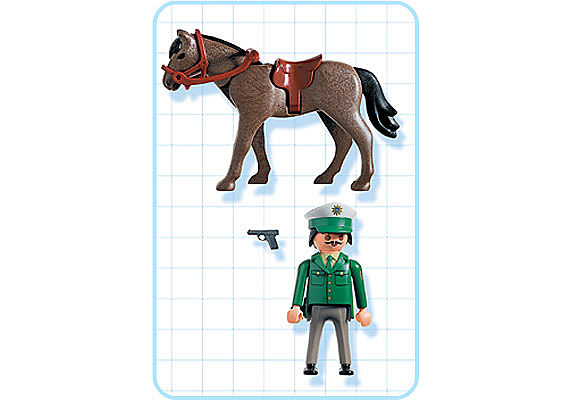 3163-A Polizist mit Pferd detail image 2