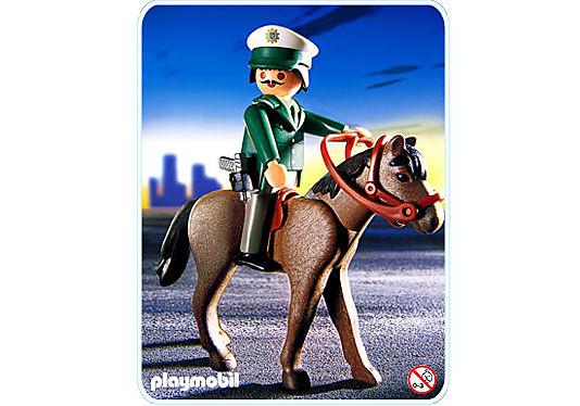 3163-A Polizist mit Pferd detail image 1