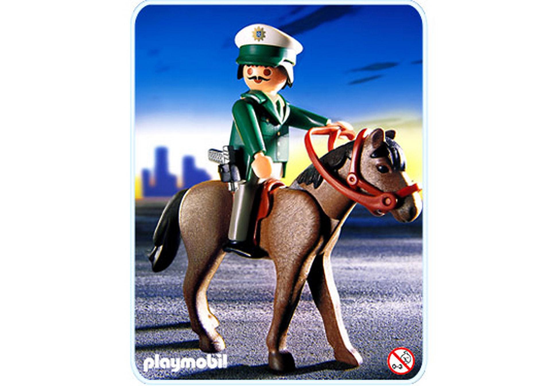 3163-A Polizist mit Pferd zoom image1