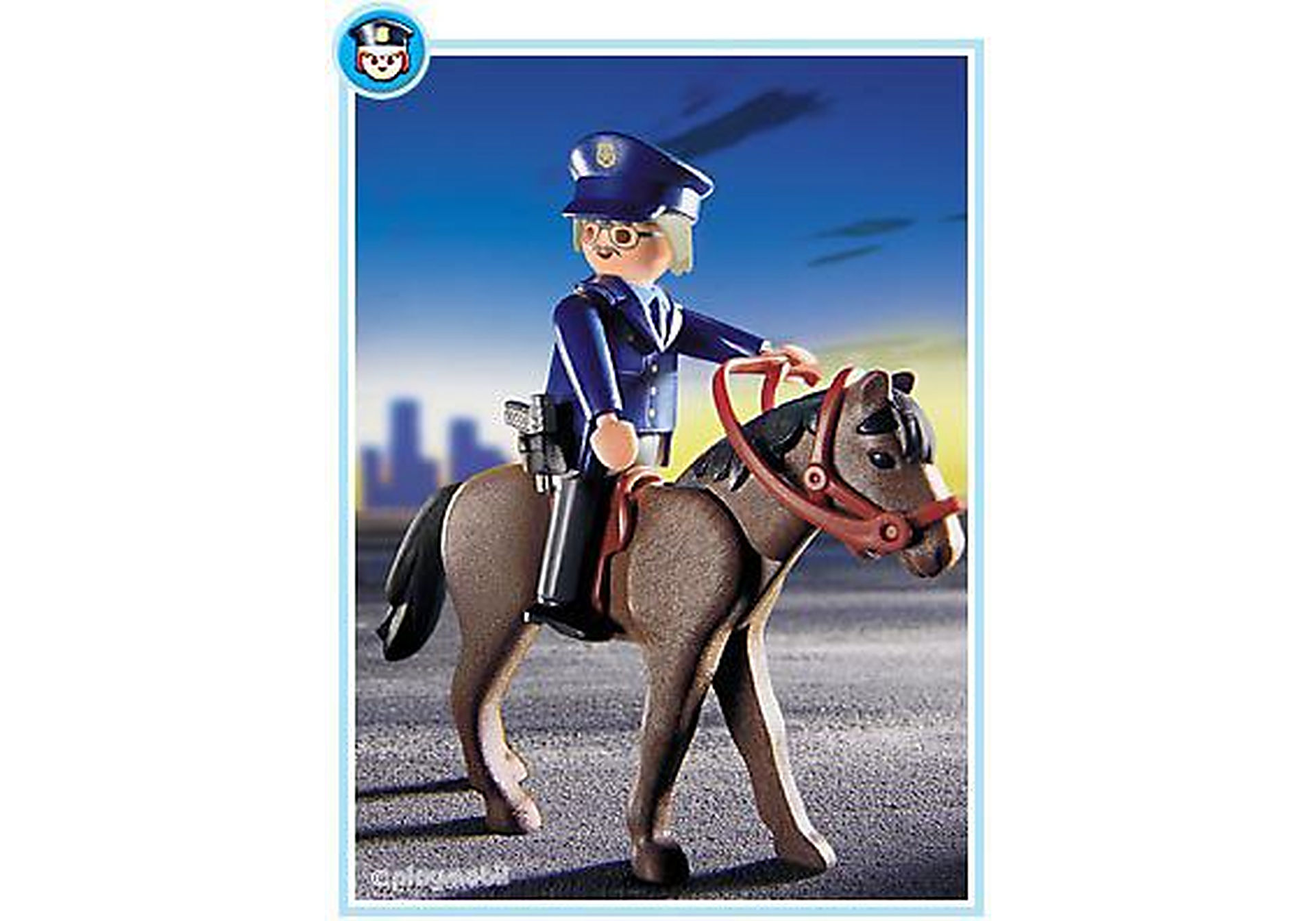 3167-A Polizist mit Pferd zoom image1