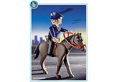 3167-A Polizist mit Pferd