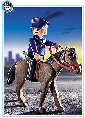 3167-A Polizist/Pferd detail image 1