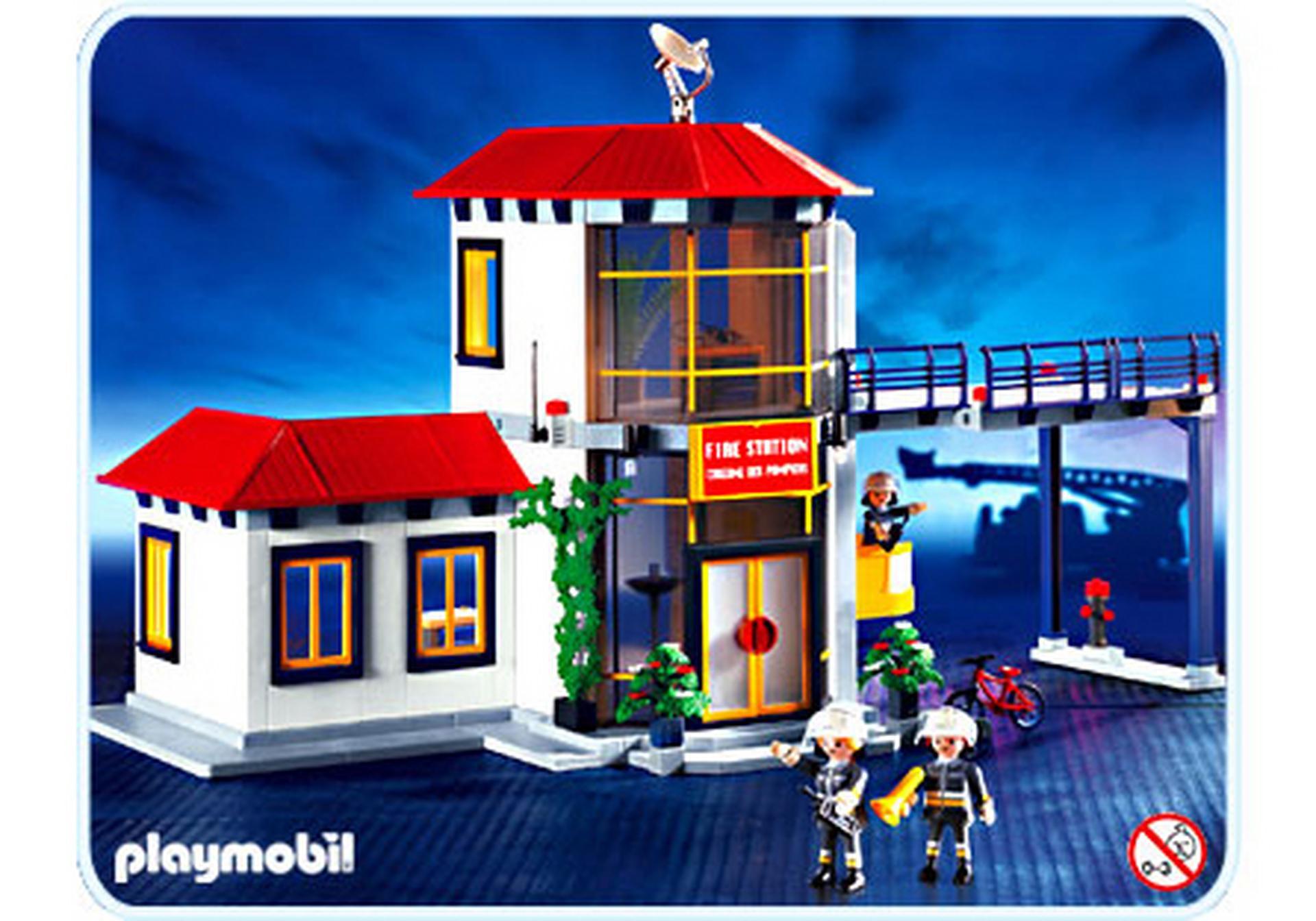 pompiers caserne des pompiers 3175 a playmobil france. Black Bedroom Furniture Sets. Home Design Ideas