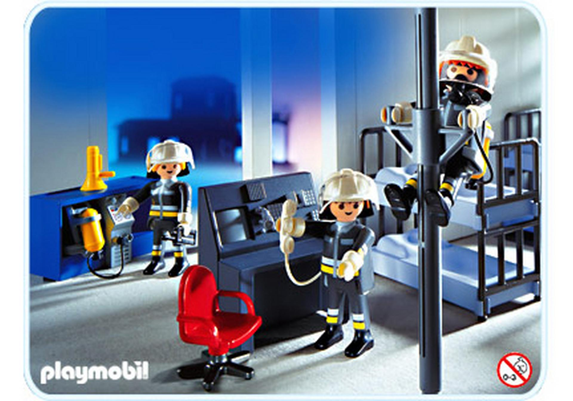 Pompiers salle d intervention 3176 a playmobil france - Playmobil pompiers ...