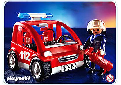 3177-A Capitaine pompier/véhicule detail image 1