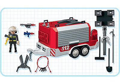 3178-A Feuerwehranhänger mit Lichtgiraffe detail image 2