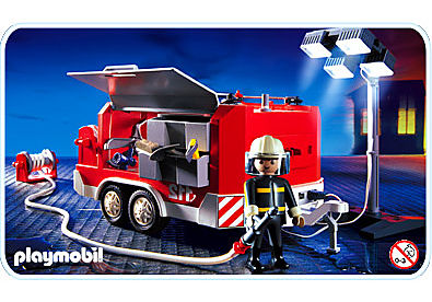3178-A Feuerwehranhänger mit Lichtgiraffe detail image 1