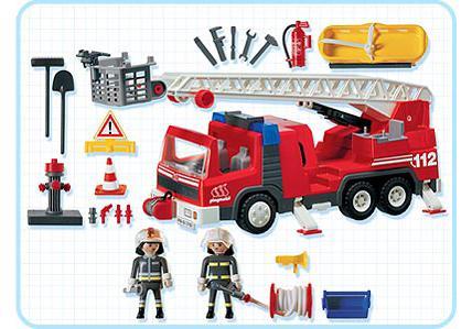pompiers camion grande chelle 3182 a playmobil france. Black Bedroom Furniture Sets. Home Design Ideas