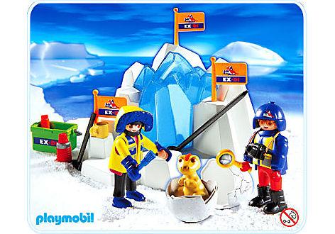 3193-A Oeuf de dinosaure pris dans la glace detail image 1