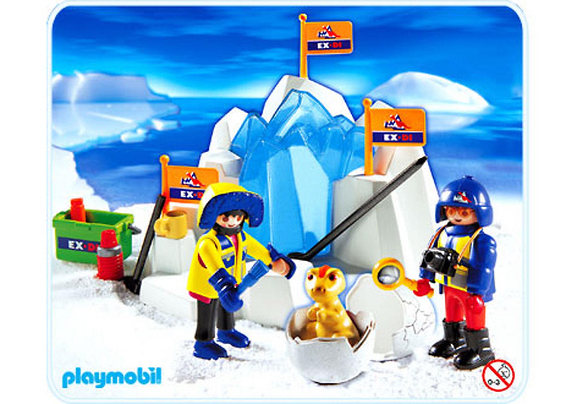 3193-A Oeuf de dinosaure pris dans la glace zoom image1