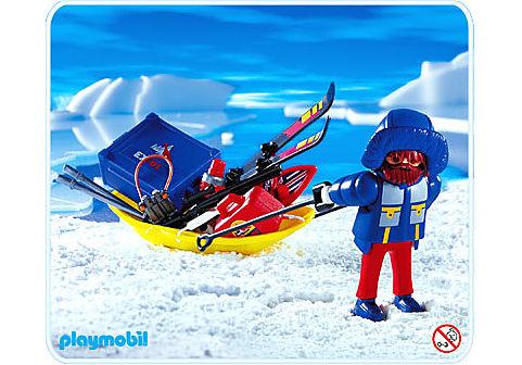 3194-A Polarforscher mit Transportschlitten detail image 1