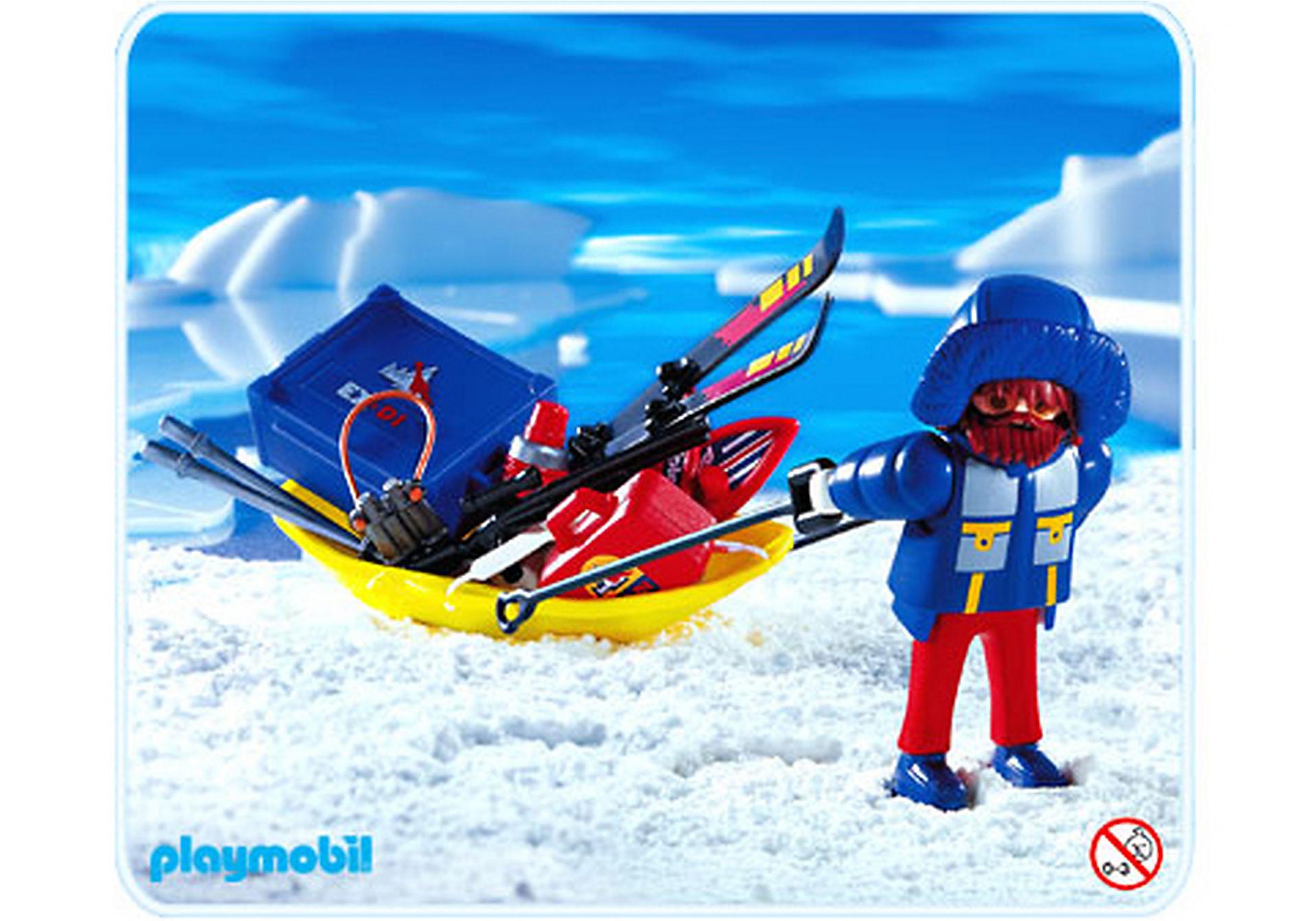 3194-A Polarforscher mit Transportschlitten zoom image1
