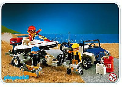 3198-A Speedboat u. Jeep detail image 1