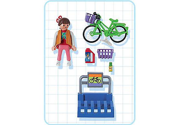 3203-B Frau mit Rad detail image 2