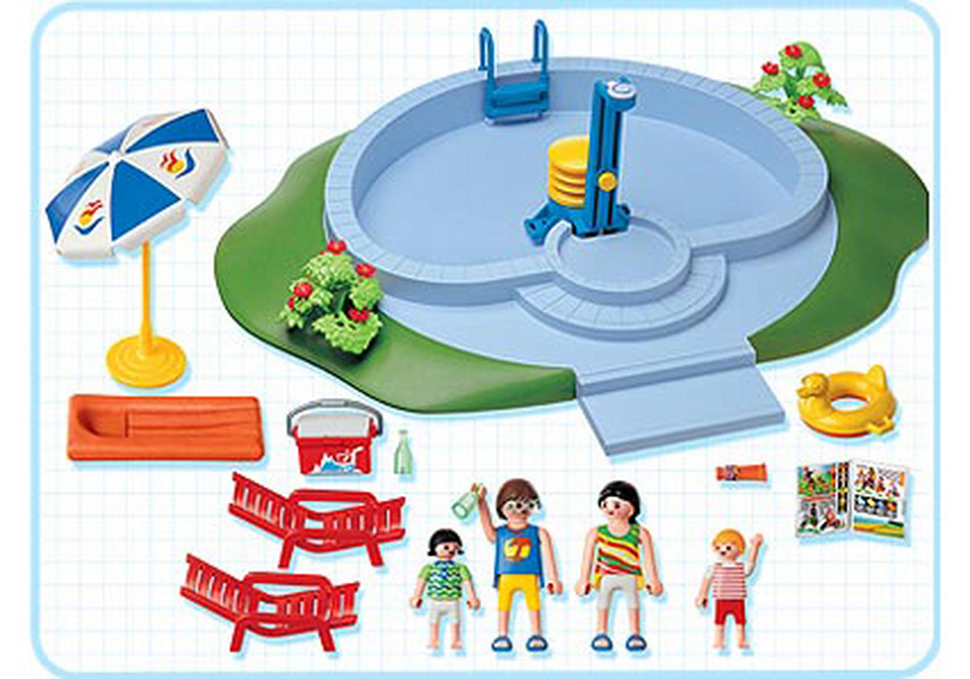 Famille piscine 3205 b playmobil france for Piscine de playmobil