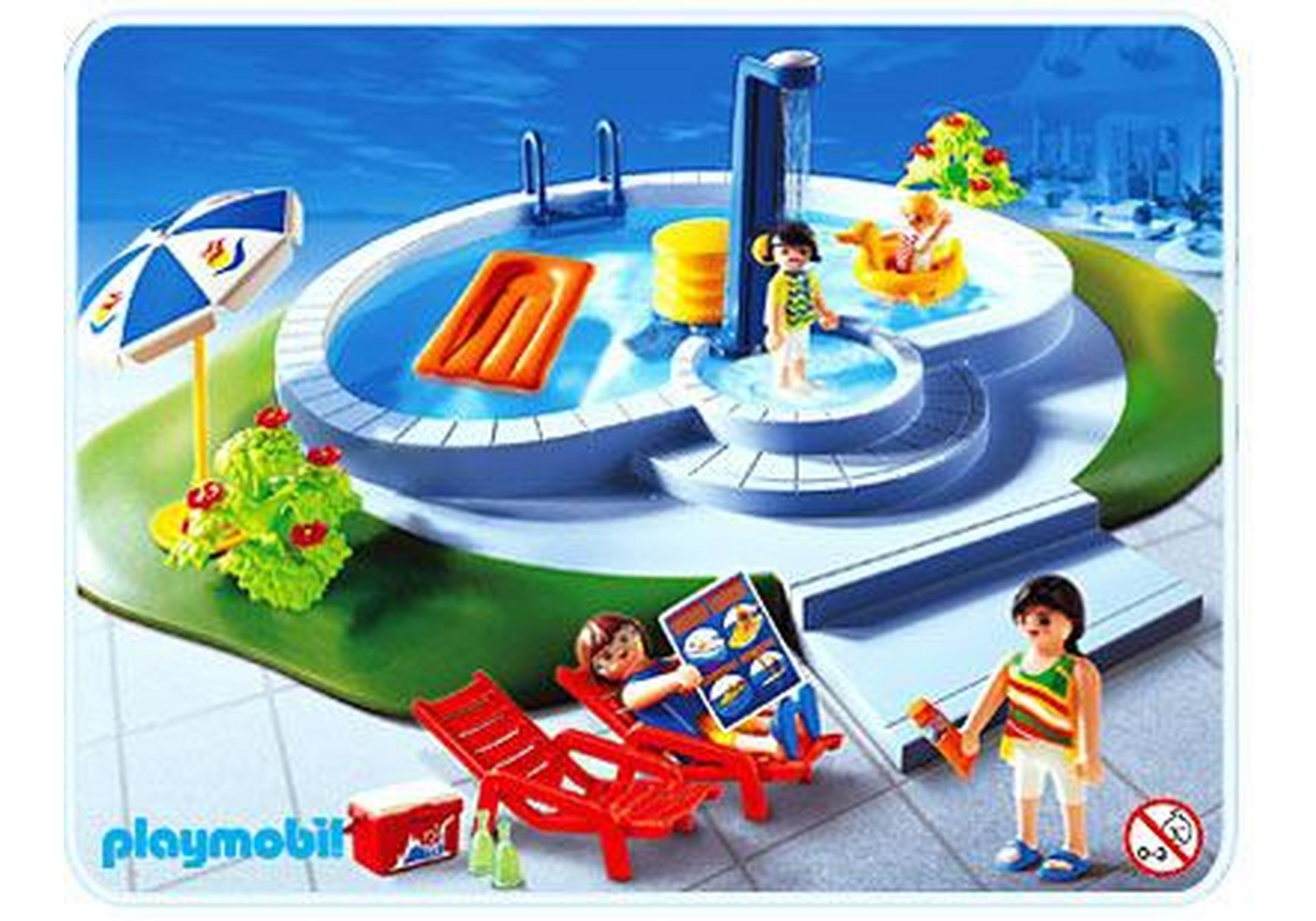 Famille piscine 3205 b playmobil france for Piscine playmobil 3205