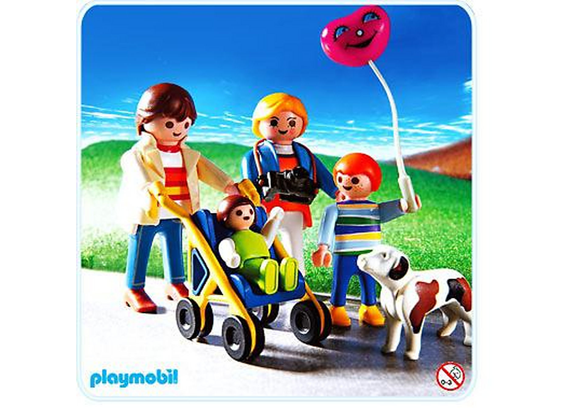 3209-B Familienspaziergang mit Buggy zoom image1
