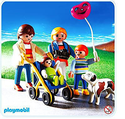 3209-B Familienspaziergang mit Buggy detail image 1