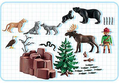 3228-A Garde chasse / animaux de la forêt detail image 2