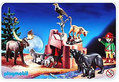 3228-A Garde chasse / animaux de la forêt detail image 1