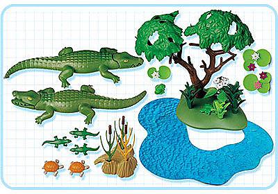 3229-A Famille d`alligators detail image 2