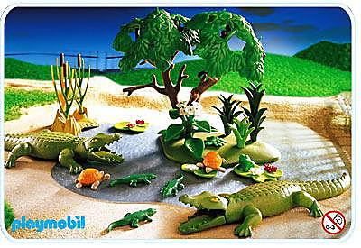 3229-A Famille d`alligators detail image 1