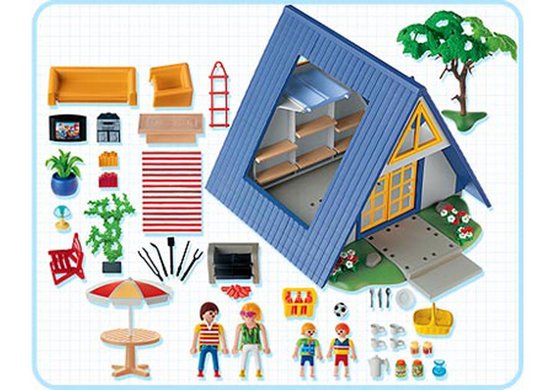 Famille maison de vacances 3230 a playmobil france - Plan maison de campagne playmobil ...