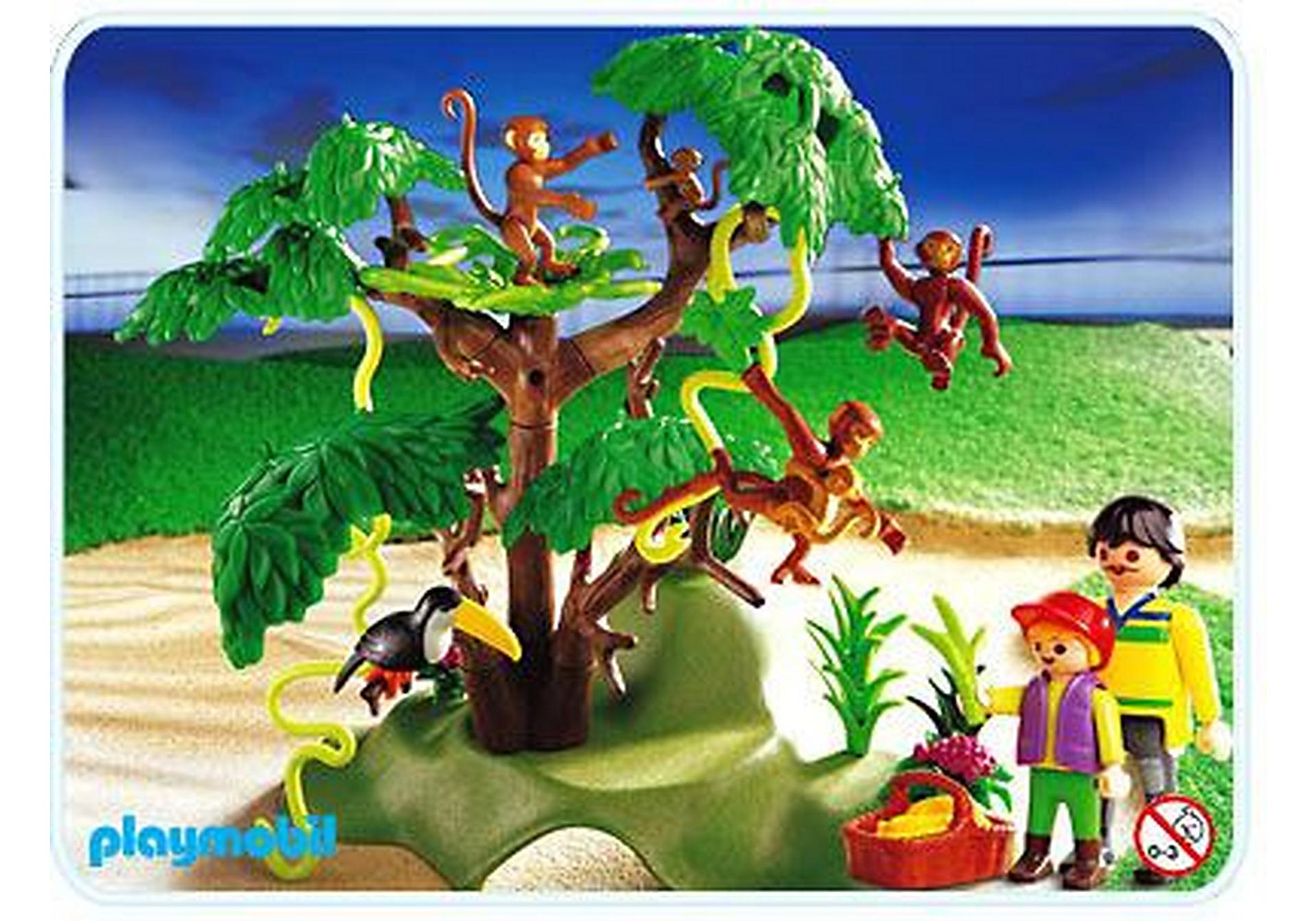 3238-B Famille de singes/arbre zoom image1