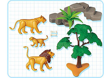 3239-B Löwenfamilie detail image 2