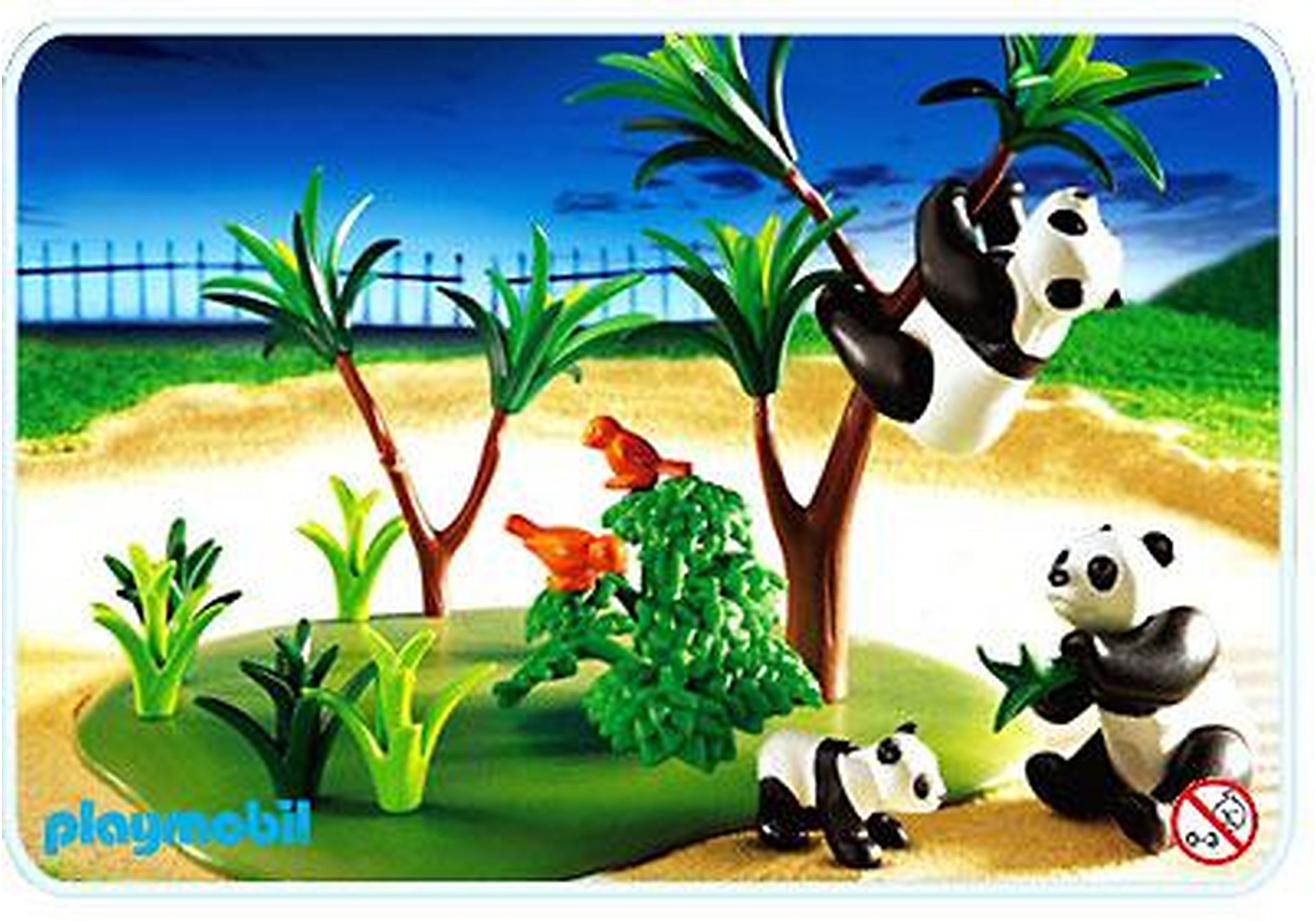 3241-C Famille de pandas zoom image1
