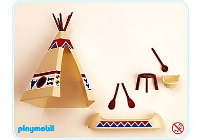 3252-A Tente canoë et feu de camp