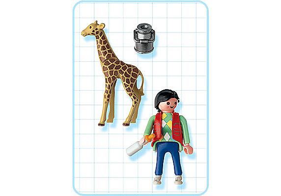 3253-B Babygiraffe/Pflegerin detail image 2