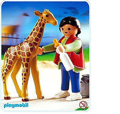 3253-B Babygiraffe/Pflegerin detail image 1