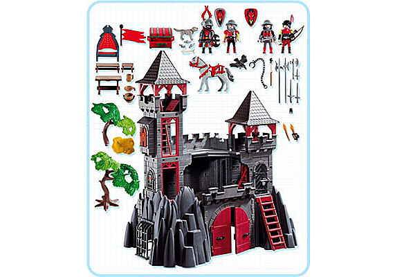 3269-B Forteresse du Dragon rouge detail image 2