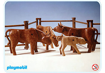 3275-A Rinder mit Gatter detail image 1