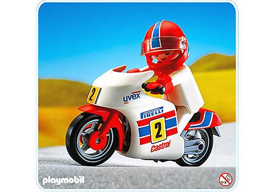 3303-A Moto de course + coureur detail image 1