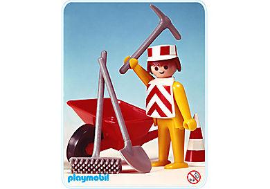 3313-A Straßenbauarbeiter/Schubkarren