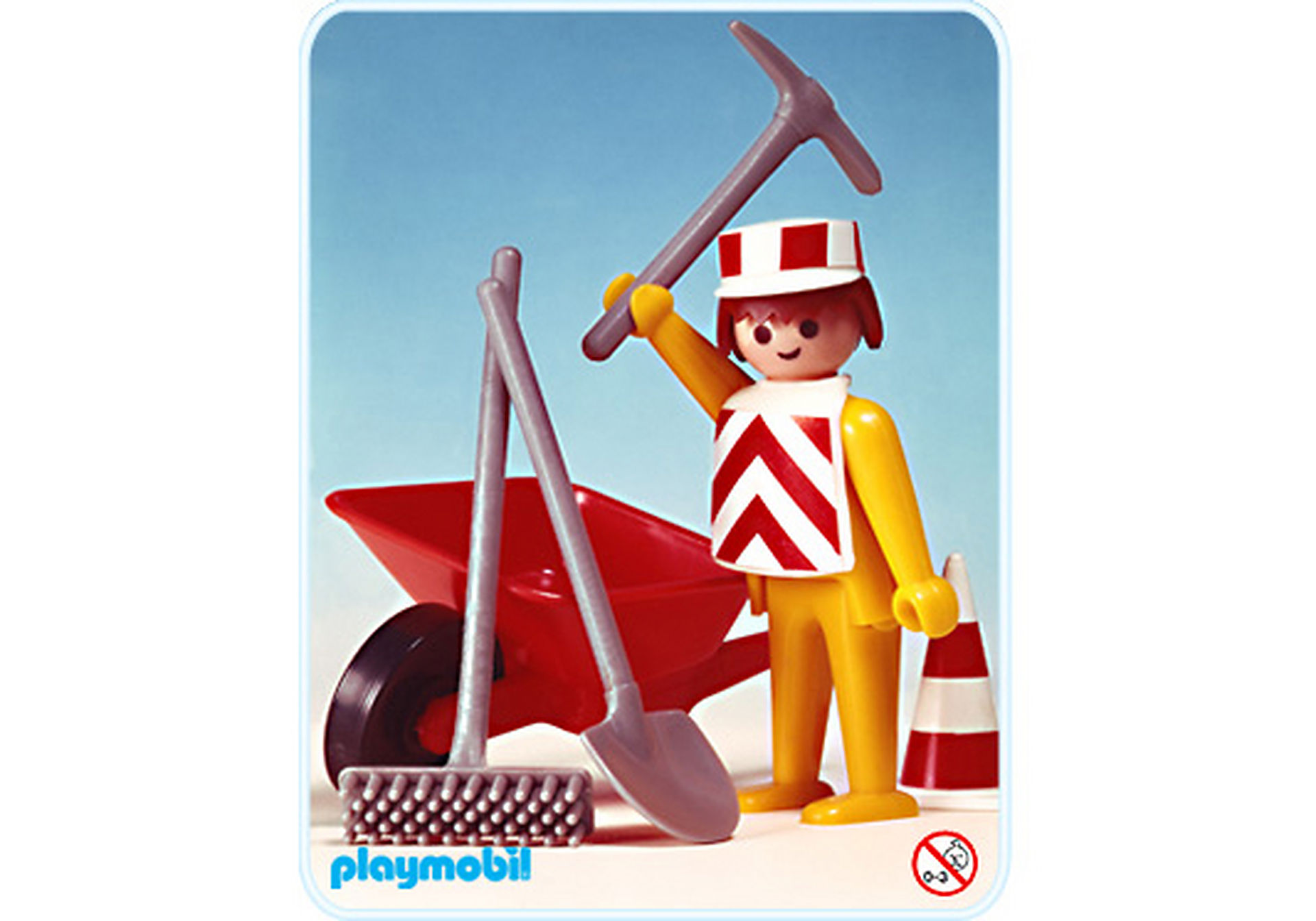 3313-A Straßenbauarbeiter/Schubkarren zoom image1