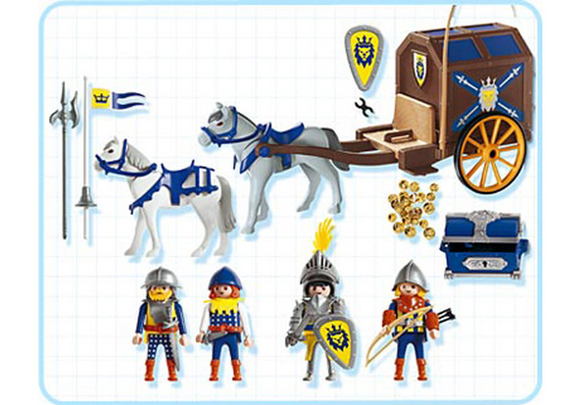 K nigsritter mit schatztransport 3314 b playmobil for Kutsche playmobil