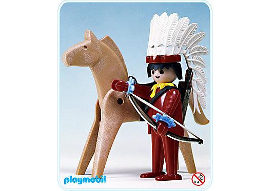 3351-A Indianer-Häuptling/Pferd detail image 1