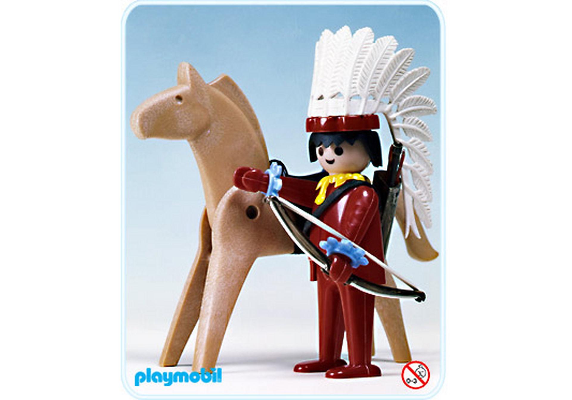 3351-A Indianer-Häuptling/Pferd zoom image1