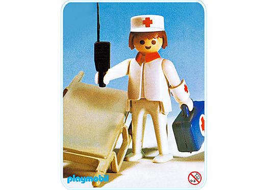 3361-A Sanitäter mit Trage detail image 1